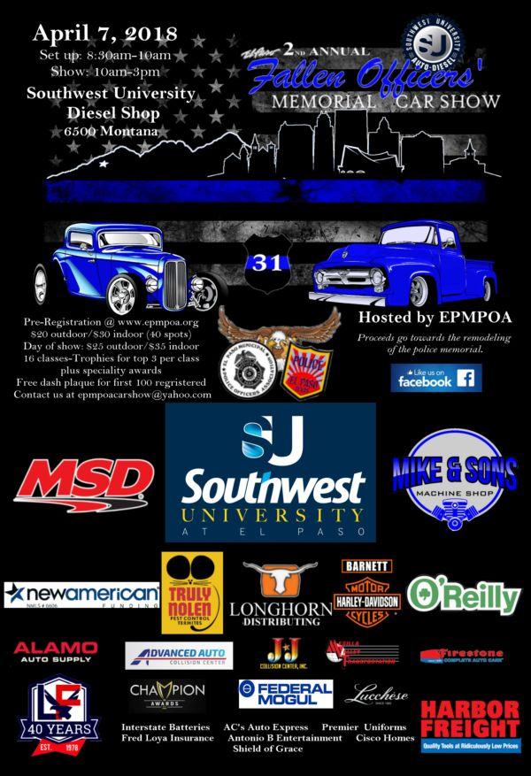 El Paso Municipal Police Officers Association - Car show el paso